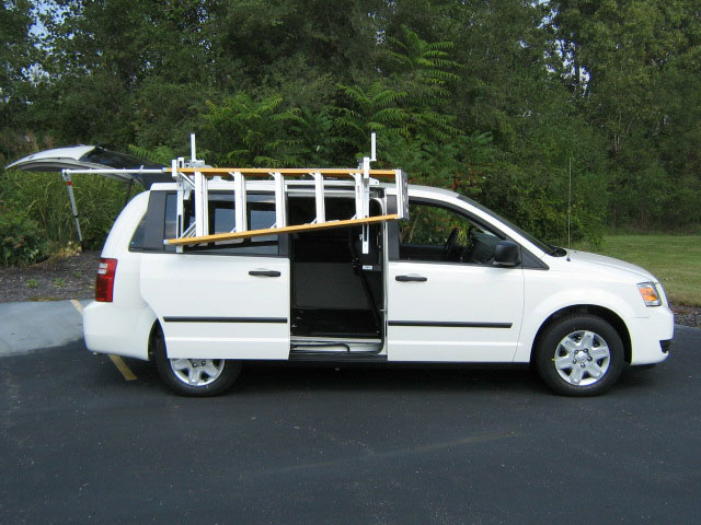 Roof Rack Ladder >> Mini Van - Ladder Rack