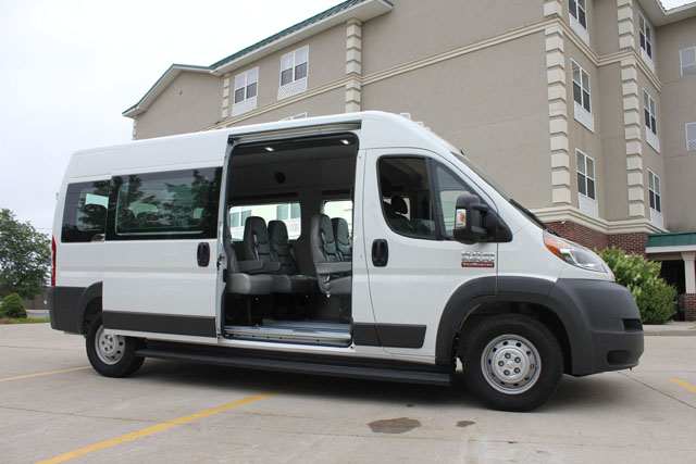 10 Passenger Vehicles >> Ram ProMaster - 14 Passenger Van
