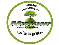 Midway's New Low Fuel Usage Vehicle Logo