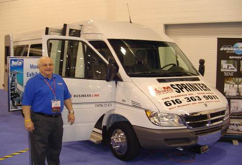 Jack Gaskill of Midway Speciality Vehicles, with Dodge Sprinter upfitted bus configuration
